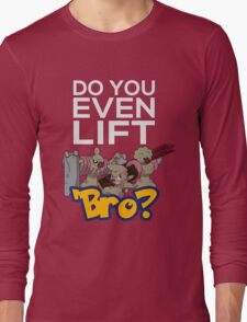Do You Even Lift Bro - Pokemon - Conkeldurr Family Long Sleeve T-Shirt