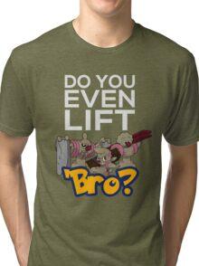 Do You Even Lift Bro - Pokemon - Conkeldurr Family Tri-blend T-Shirt