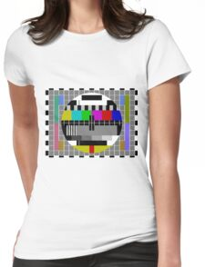 Test Pattern Logo Womens Fitted T-Shirt