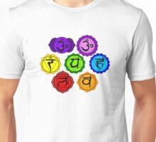 YOGA REIKI PLAIN SEVEN CHAKRA SYMBOLS TEMPLATE Unisex T-Shirt