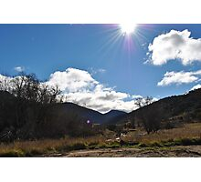 high mountain clear sky Photographic Print