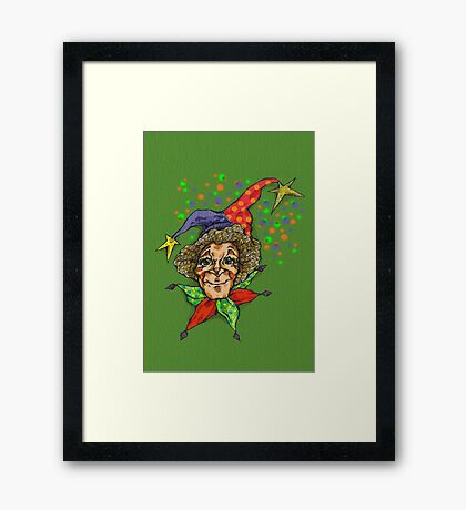 serious jester  Framed Print