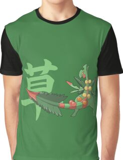Sceptile With Grass Kanji Graphic T-Shirt