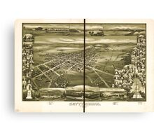 Panoramic Maps Gettysburg Pennsylvania 1888 Canvas Print