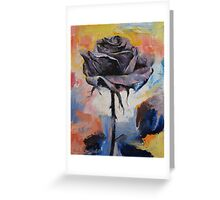 Black Rose Greeting Card