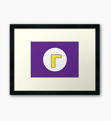 Waluigi Logo Framed Print