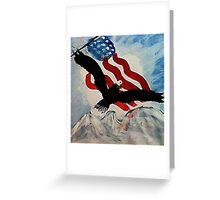 God Bless America, Happy Memorial Day, watercolor Greeting Card