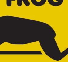 Frog Crossing Sticker