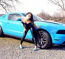 2012 Grabber Blue Mustang GT by lowkeyneon