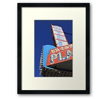 Plaza Motel Framed Print