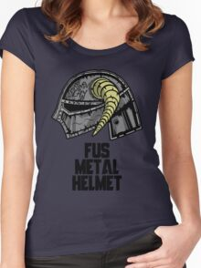 FUS METAL HELMET Women's Fitted Scoop T-Shirt