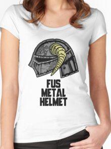 FUS METAL HELMET Women's Fitted Scoop T-Shirt
