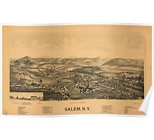 Panoramic Maps Salem NY Poster