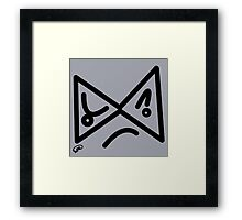 Mad Face Framed Print