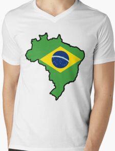 Brazil Mens V-Neck T-Shirt