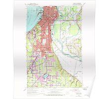 USGS Topo Map Washington State WA Everett 241093 1953 24000 Poster