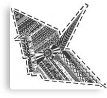 Cut-out Origami Crane Canvas Print