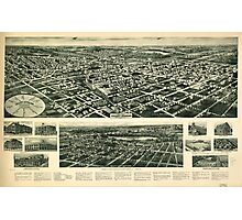 Panoramic Maps Aero-view of Valley Stream Long Island 1924 Photographic Print