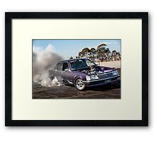 HIZNHERZ Burnout Framed Print