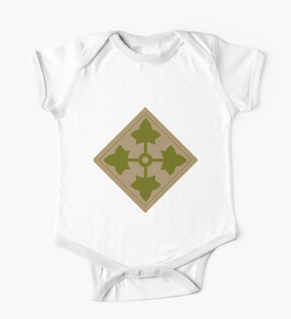 Fourth Infantry Division Insignia One Piece - Short Sleeve