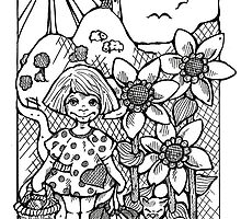 """Sunflower garden"" by Renata Lombard"