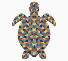 Polygonal Turtle One Piece - Long Sleeve