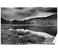 Stormy Loch Etive BW Poster