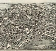 Panoramic Maps Westborough Massachusetts 1888 Sticker