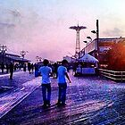 Coney Island Boardwalk in the Evening - Brooklyn, NYC by SylviaS