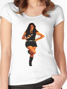 Geeky Pin-Up: Han Solo Women's Fitted Scoop T-Shirt
