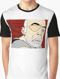 XO of the Battlestar Galactica, Colonel Saul Tigh Graphic T-Shirt