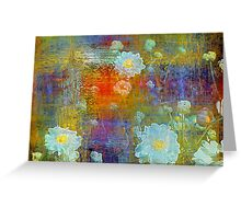 Weathered Dahlias Greeting Card