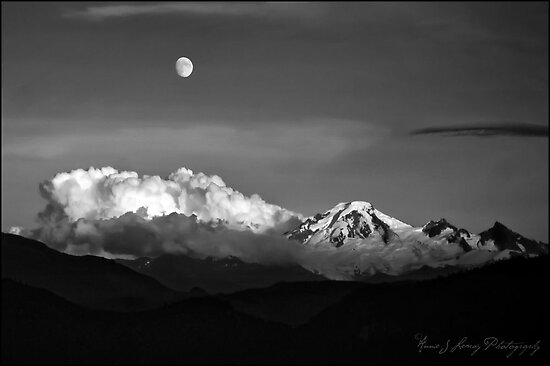 Mount Baker in Black by Annie Lemay  Photography