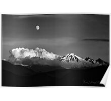 Mount Baker in Black Poster