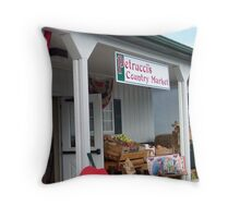 Petrucci's Country Market Throw Pillow