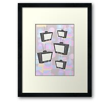 Retro TV  Framed Print