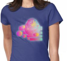 Retro-Vector Shapes Womens Fitted T-Shirt