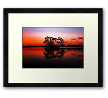 The Lakes at Sunset Framed Print