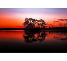 The Lakes at Sunset Photographic Print