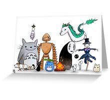 Ghibli Friends  Greeting Card