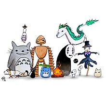 Ghibli Friends  Photographic Print