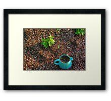Blue Pot Framed Print