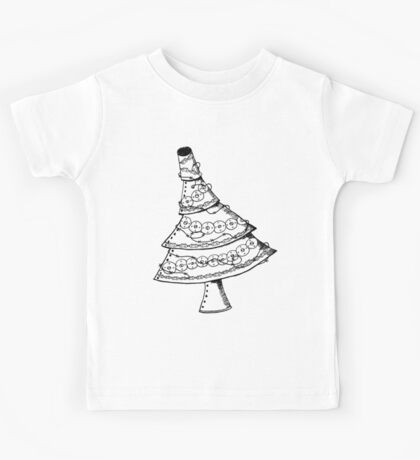 Steampunk Christmas Tree with Decorations Kids Tee