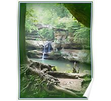 Hemlock Forest Waterfall Poster