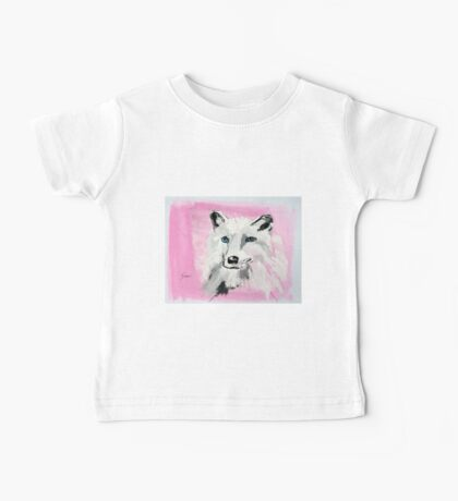 White Wolf - Animal Art by Valentina Miletic Baby Tee