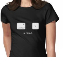 Print is dead.  (Mac version) Womens Fitted T-Shirt