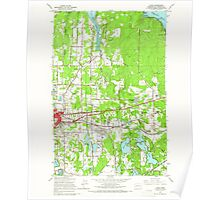 USGS Topo Map Washington State WA Lacey 241846 1959 24000 Poster