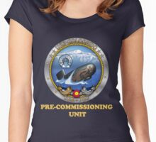 SSN-788 Pre-Commissioning Unit Crest for Dark Colors Women's Fitted Scoop T-Shirt