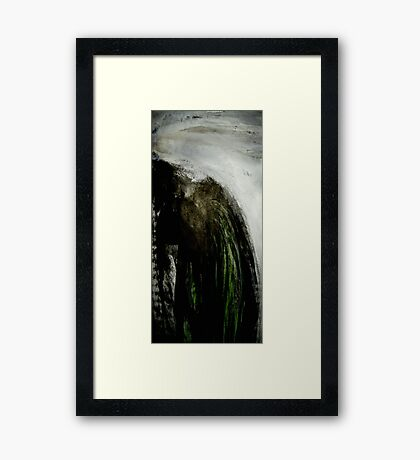 steep rock..... to the west Framed Print