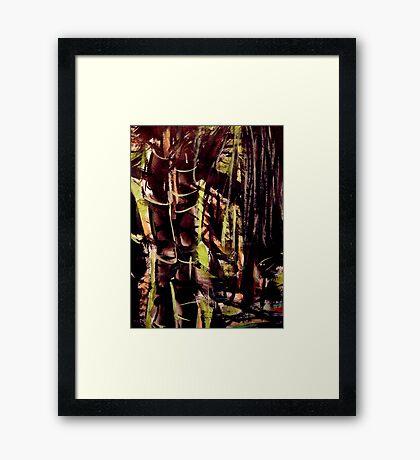 pass....bamboo grove #8 Framed Print